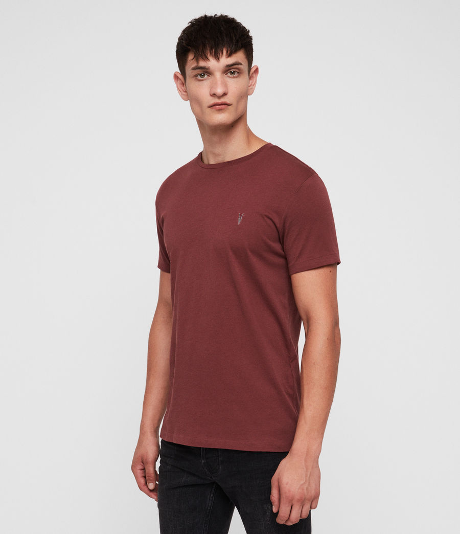 Mens Tonic Crew T-Shirt (garnet_red) - Image 3