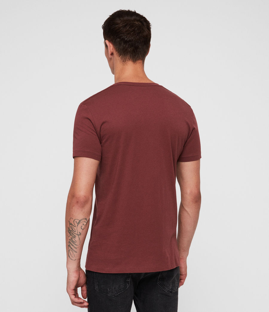 Mens Tonic Crew T-Shirt (garnet_red) - Image 4