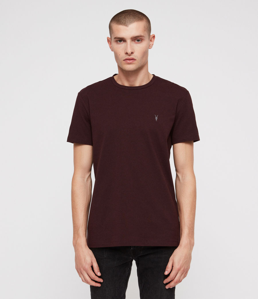 Herren Tonic Crew T-Shirt (deep_red) - Image 1