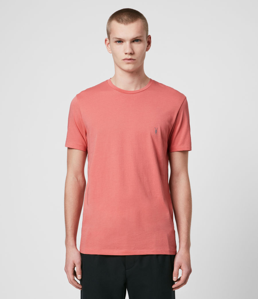 Hombre Tonic Crew T-Shirt (melon_pink) - Image 1