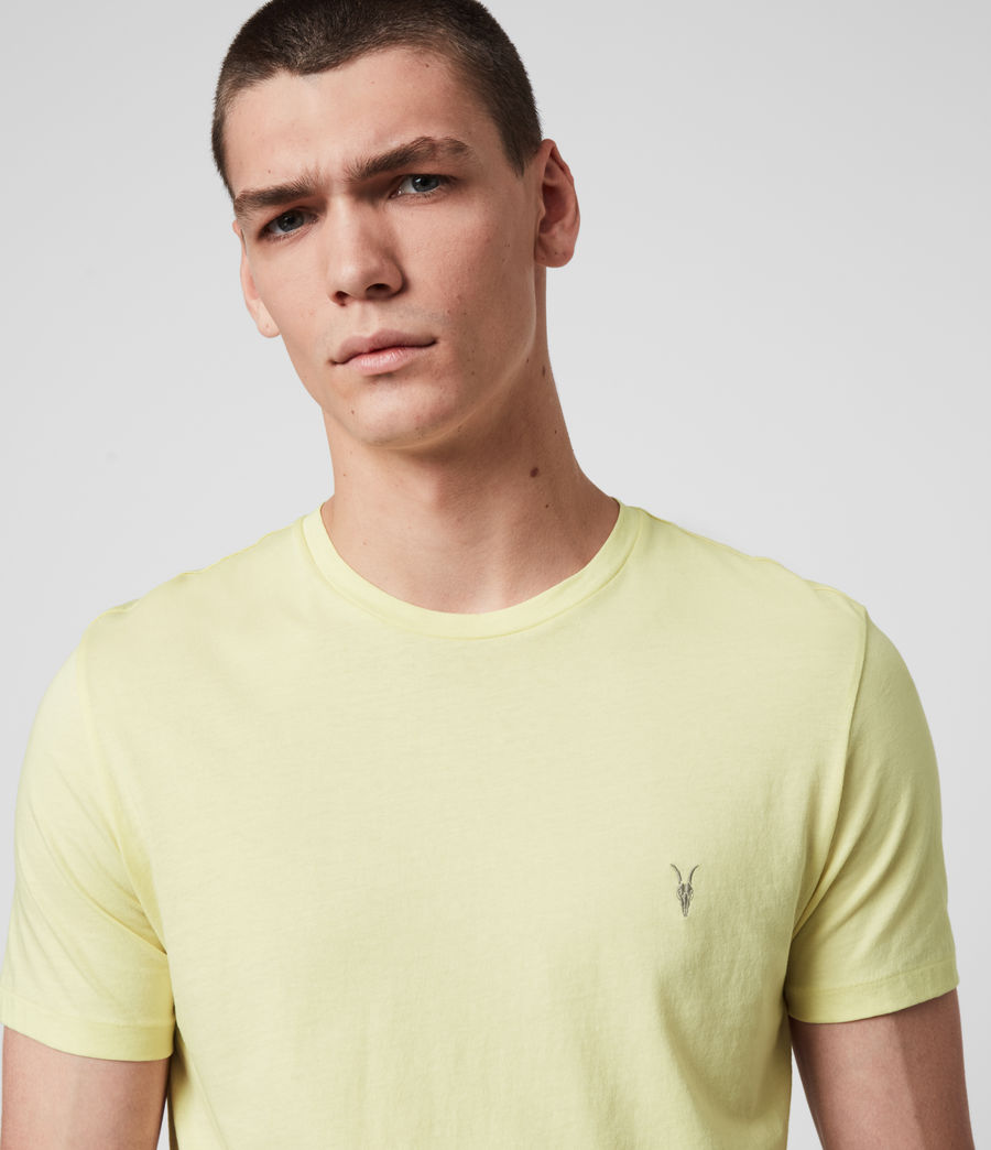 Mens Tonic Crew T-Shirt (camomile_yellow) - Image 2