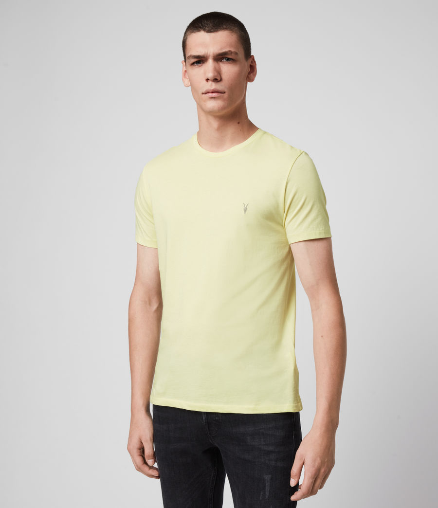 Mens Tonic Crew T-Shirt (camomile_yellow) - Image 4