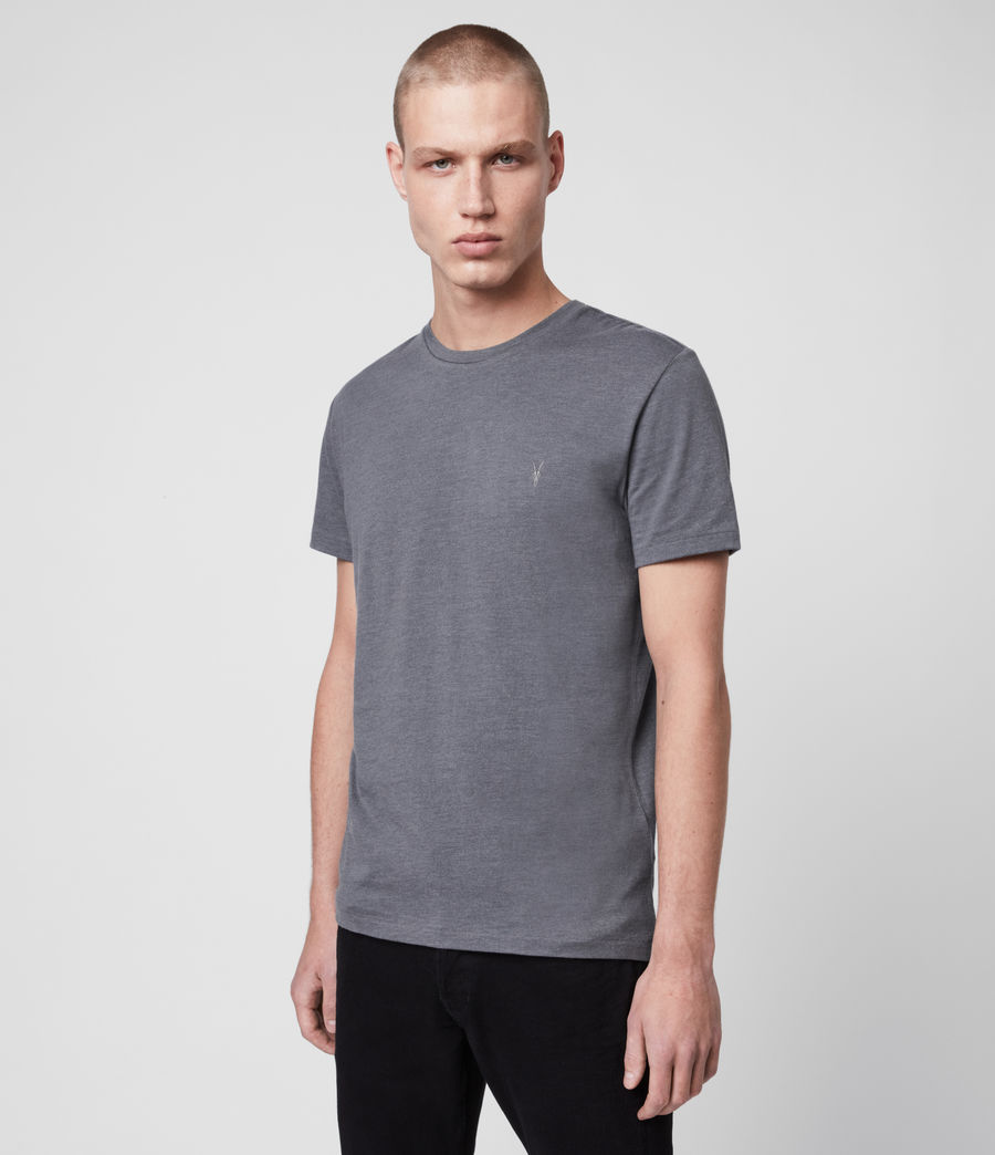 Mens Tonic Crew T-Shirt (grey_marl) - Image 4