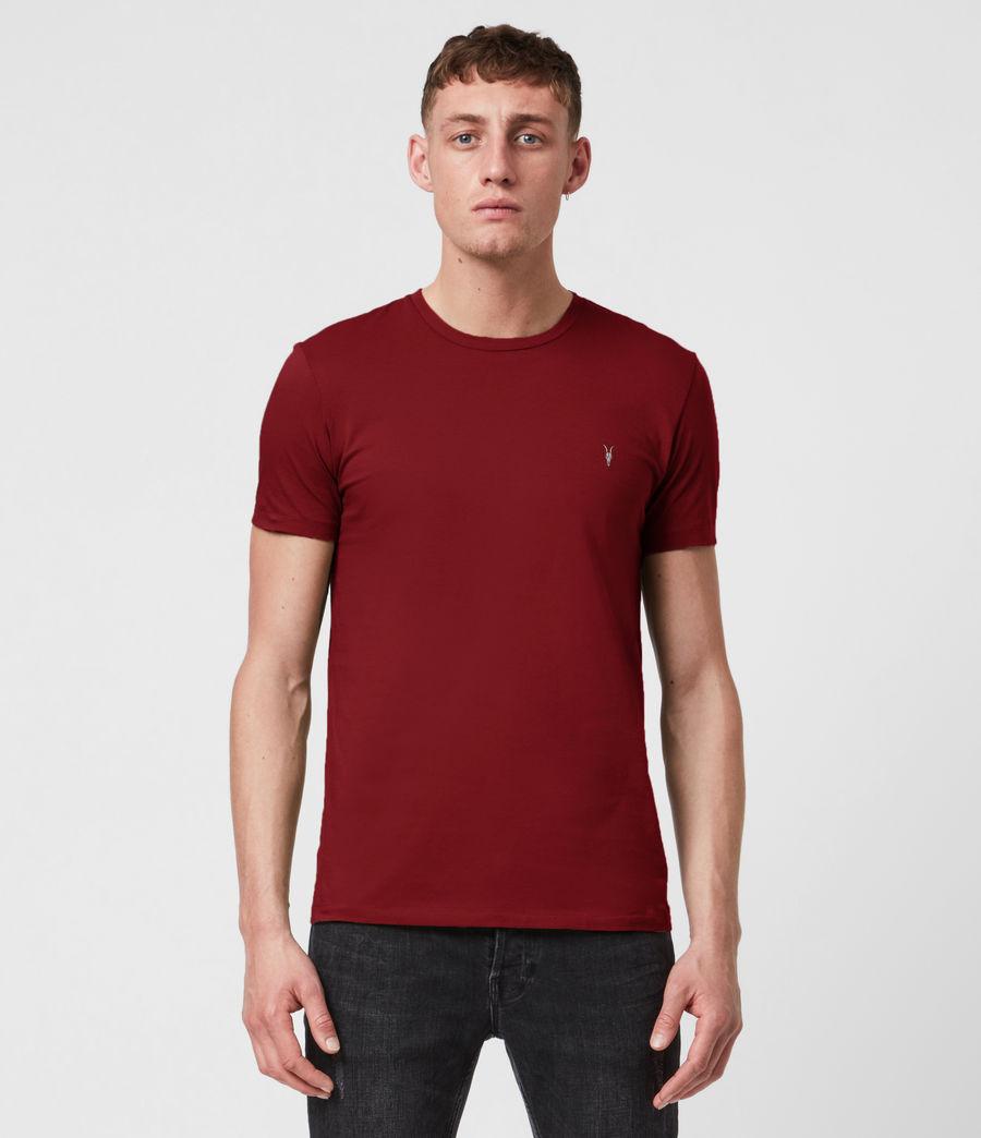 Mens Tonic Crew T-Shirt (juneberry_red) - Image 1