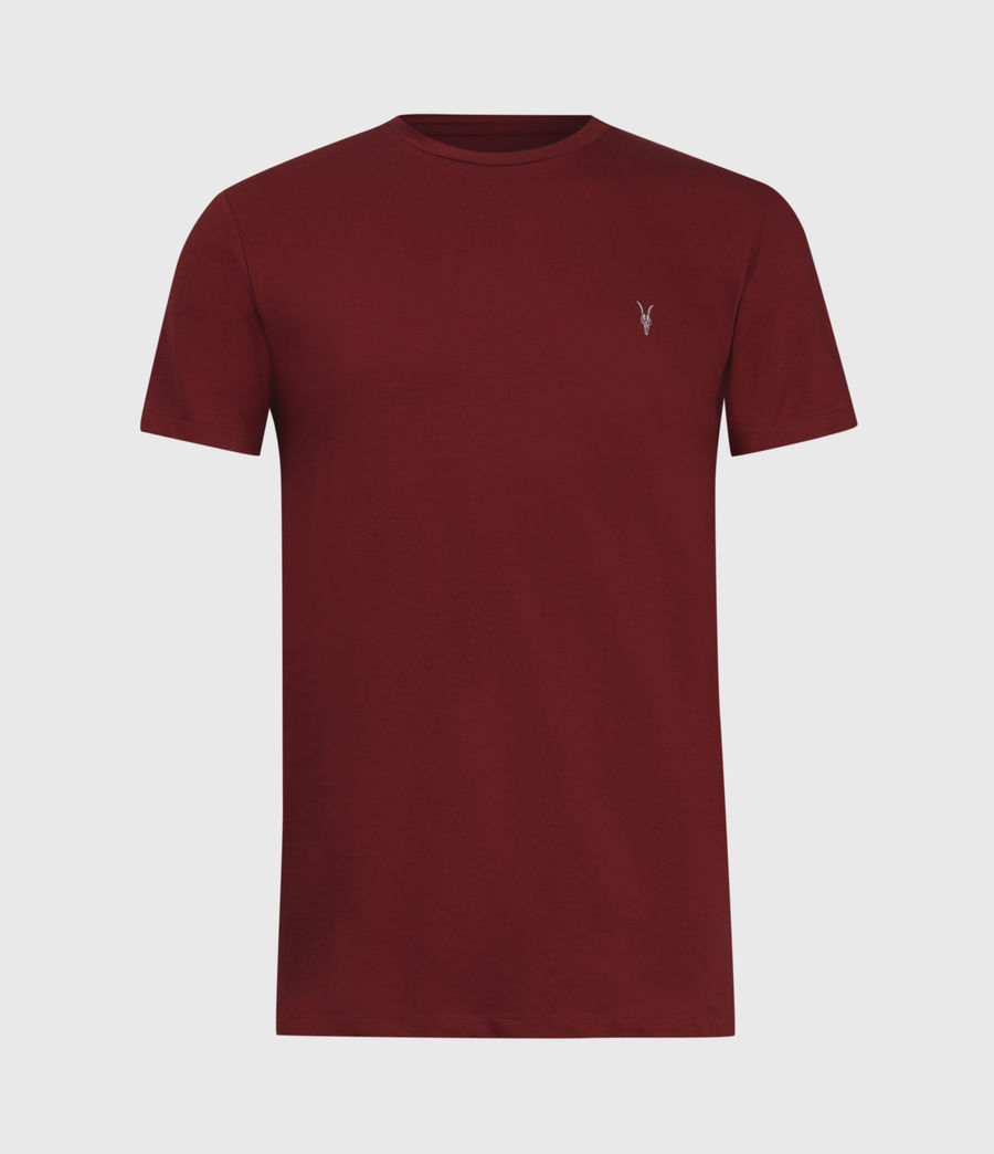 Mens Tonic Crew T-Shirt (juneberry_red) - Image 2
