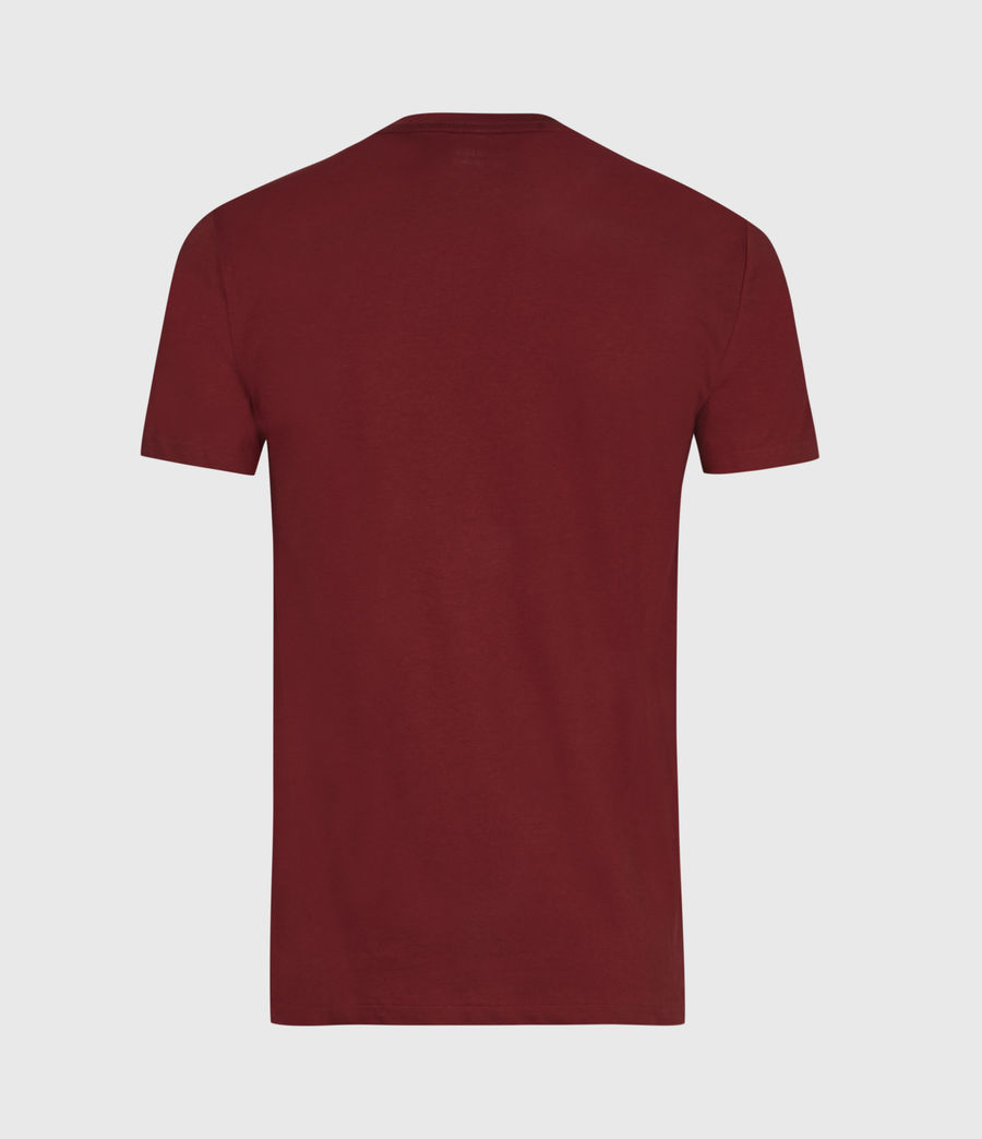 Mens Tonic Crew T-Shirt (juneberry_red) - Image 3