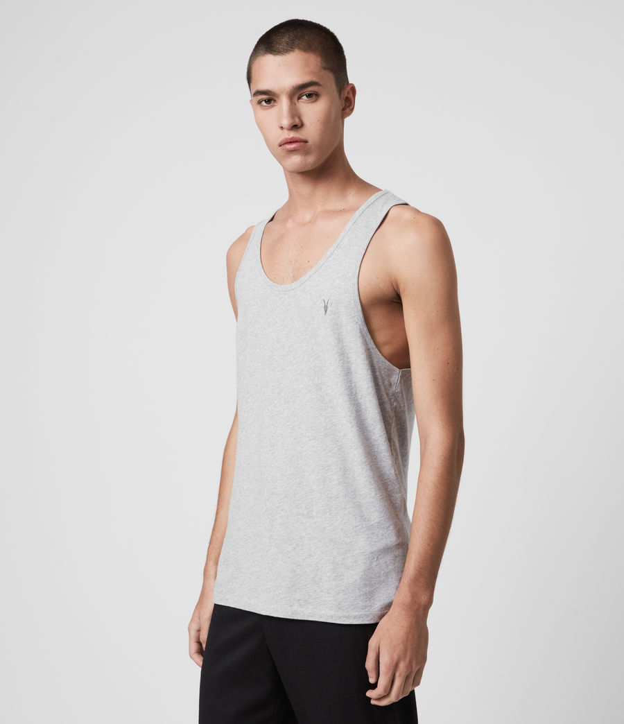 Mens Tonic Tank (grey_marl) - Image 3