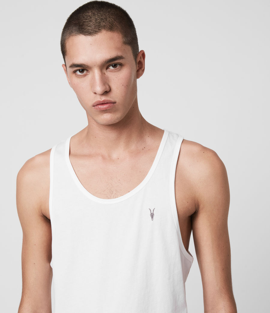 Mens Tonic Tank (optic_white) - Image 2