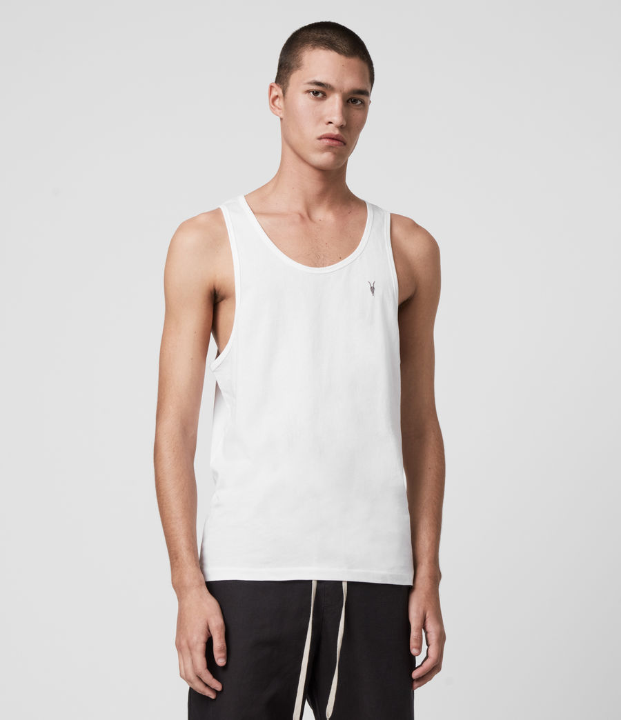 Mens Tonic Tank (optic_white) - Image 4