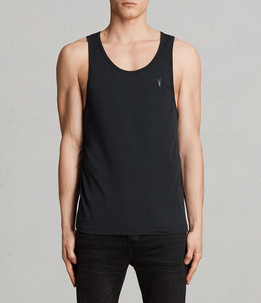 Mens Tonic Vest (black) - Image 1