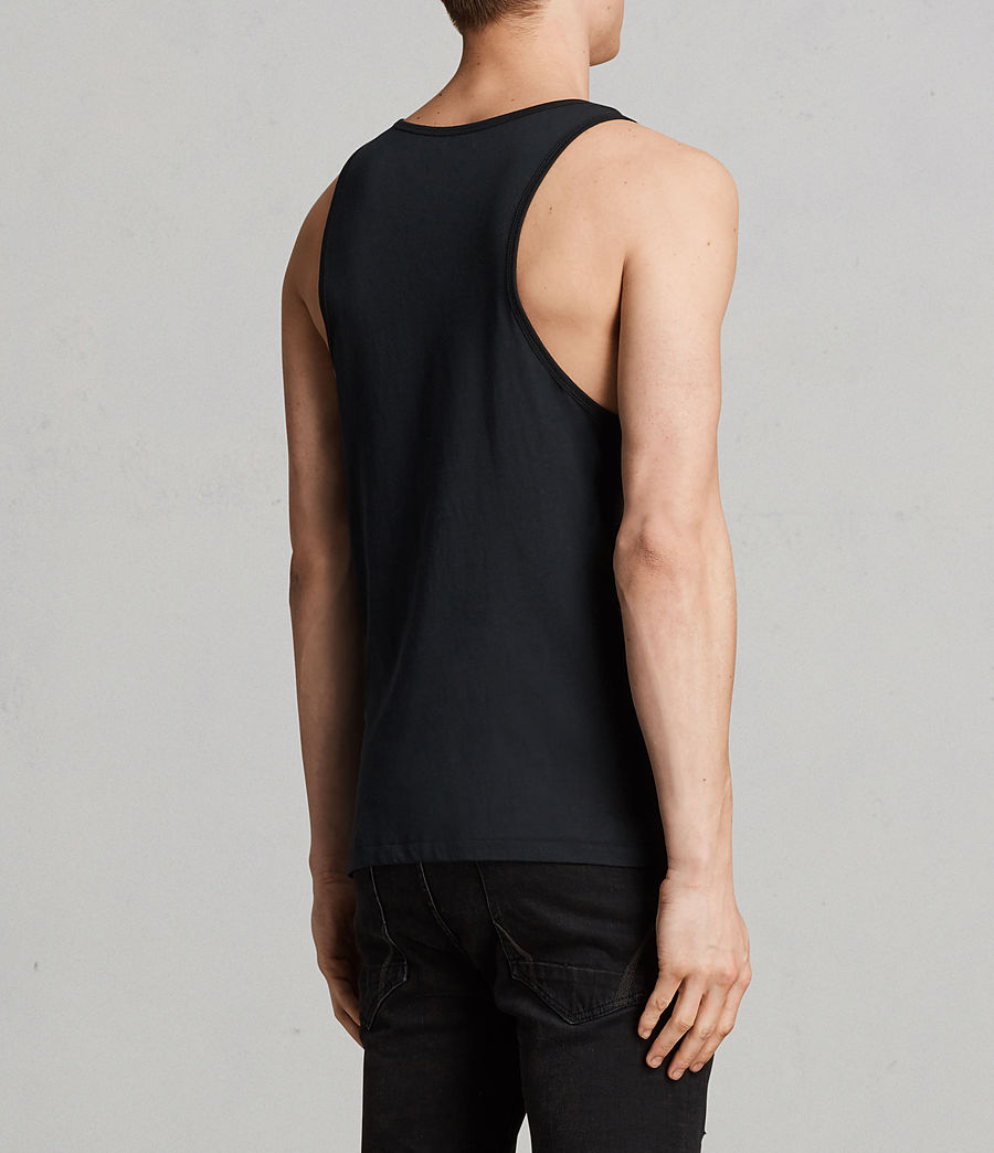 Mens Tonic Vest (black) - Image 4