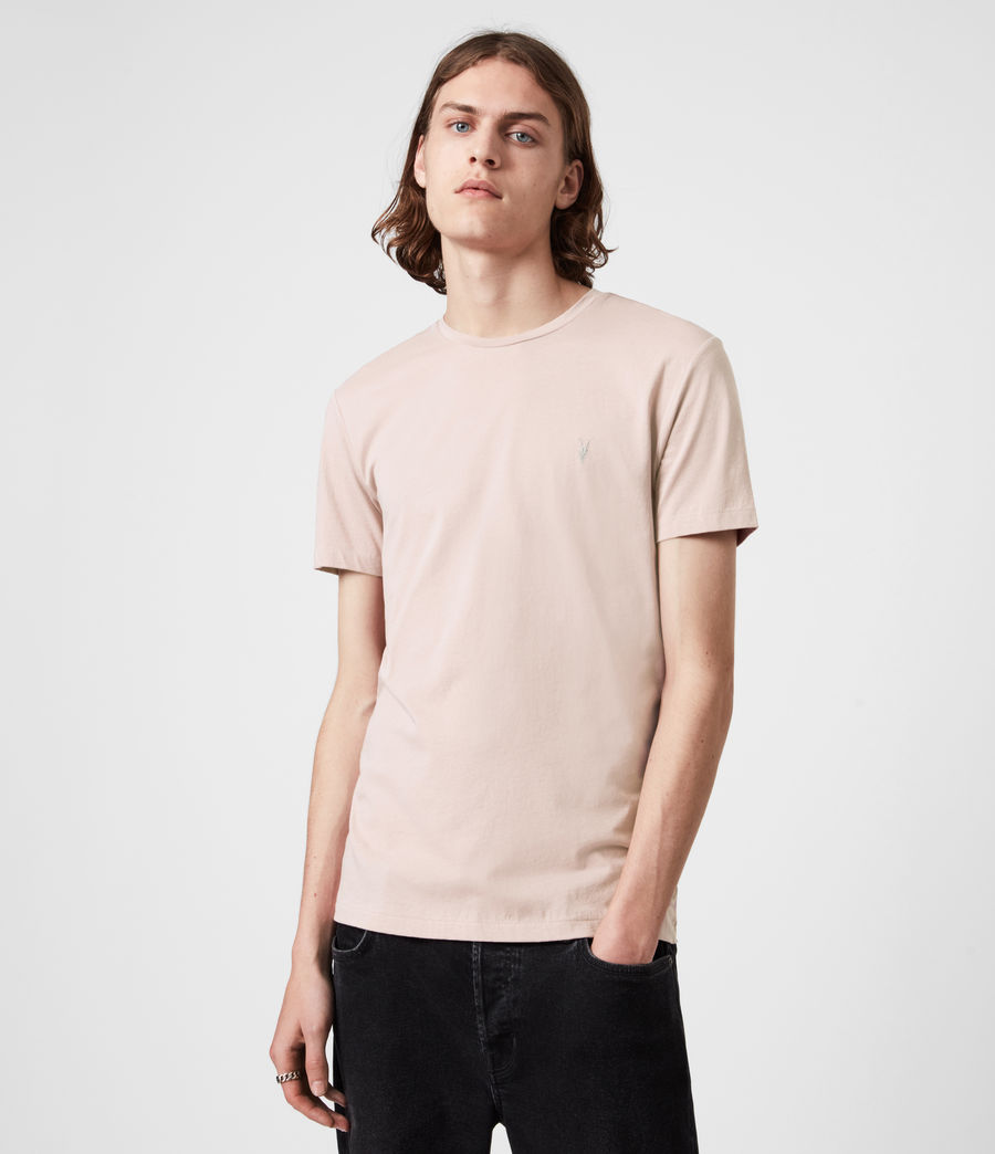 Hommes Pack de 3 T-Shirts Tonic (pink_grey_ml_white) - Image 3