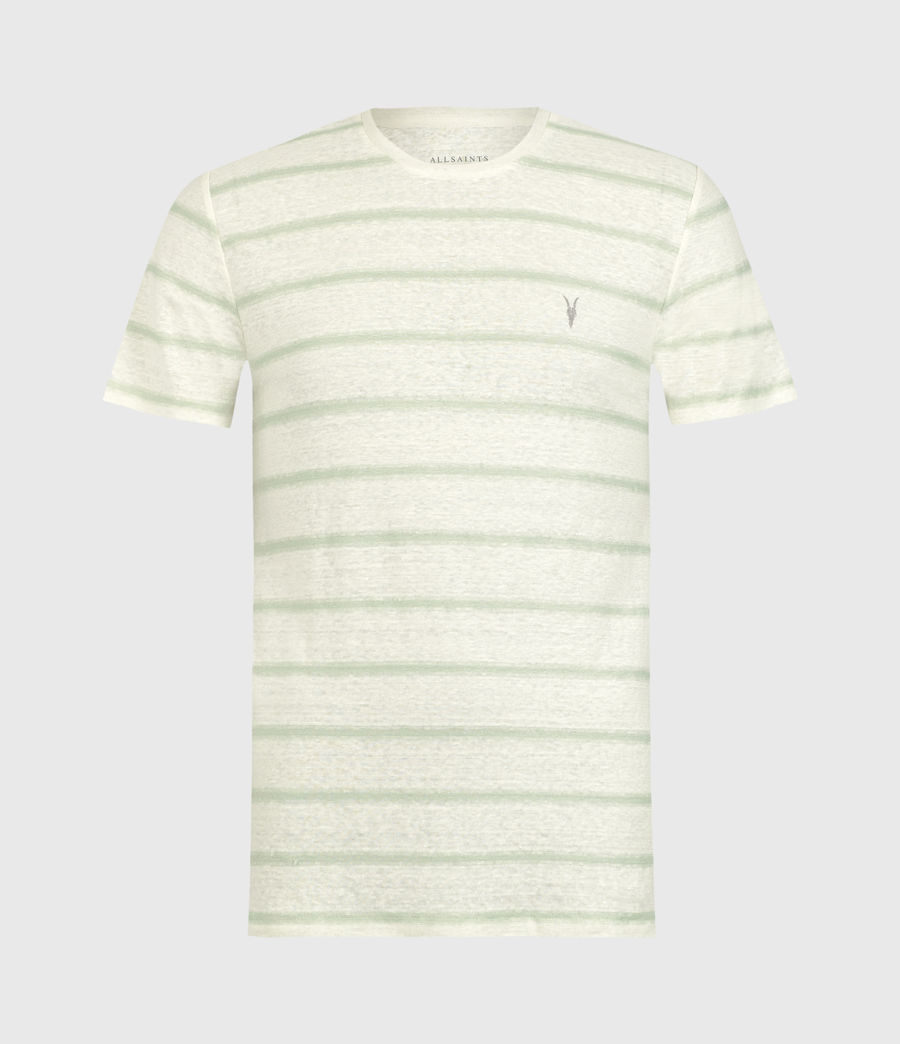 Hommes T-Shirt Rayé Vehicle (chlk_wht_wilw_gren) - Image 1