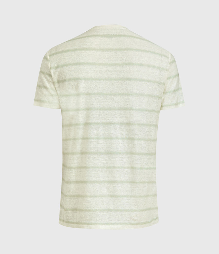 Hommes T-Shirt Rayé Vehicle (chlk_wht_wilw_gren) - Image 2