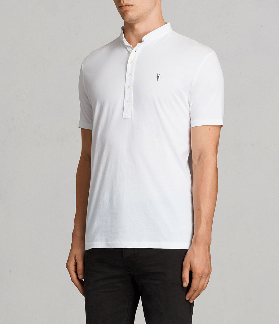 Men's Saints Polo Shirt (Optic White) - Image 3