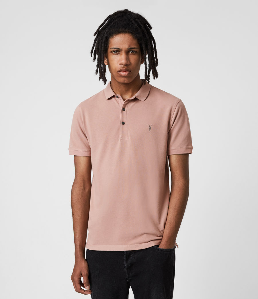 Herren Reform Short Sleeve Polo Shirt (balsastone_pink) - Image 1