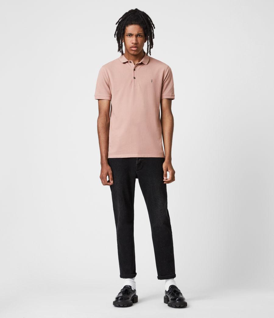 Herren Reform Short Sleeve Polo Shirt (balsastone_pink) - Image 4