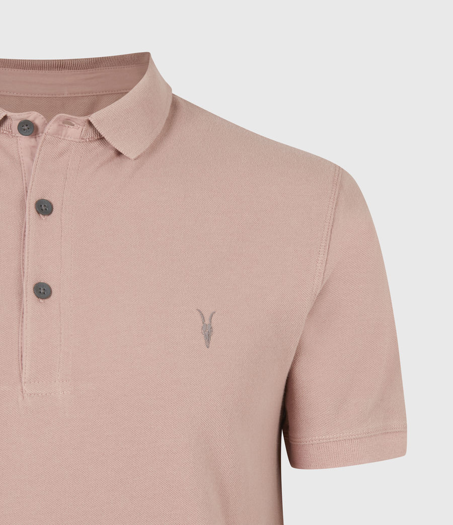 Herren Reform Short Sleeve Polo Shirt (balsastone_pink) - Image 5