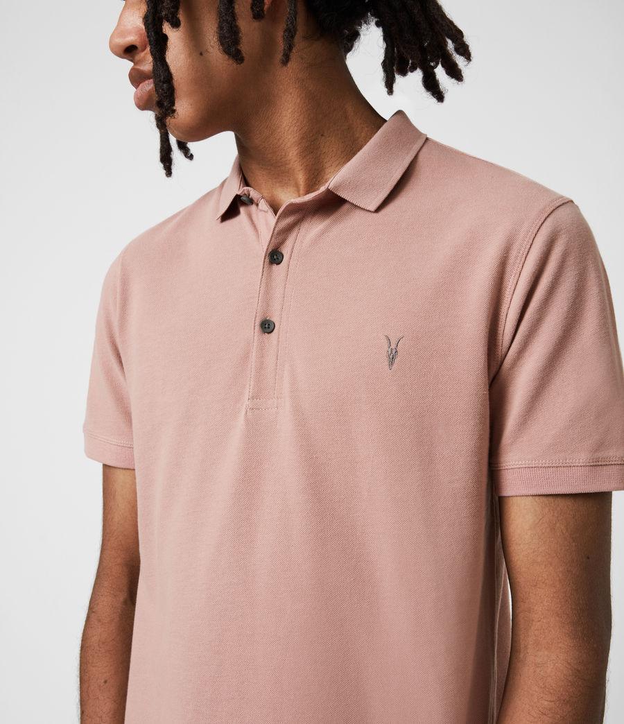 Herren Reform Short Sleeve Polo Shirt (balsastone_pink) - Image 6