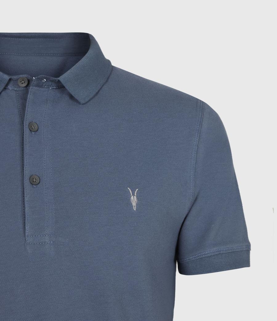 Herren Reform Kurzarm Polohemd (misty_blue) - Image 4