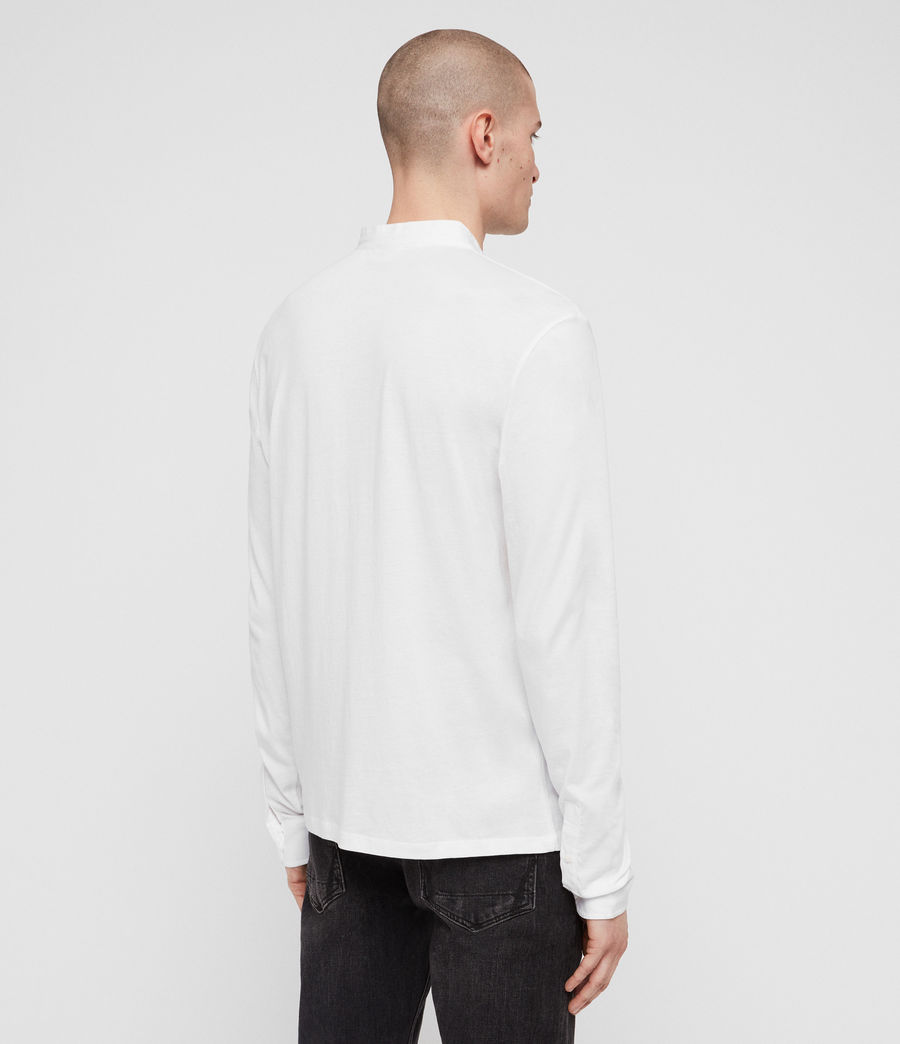 Men's Grail Long Sleeve Polo Shirt (optic_white) - Image 5