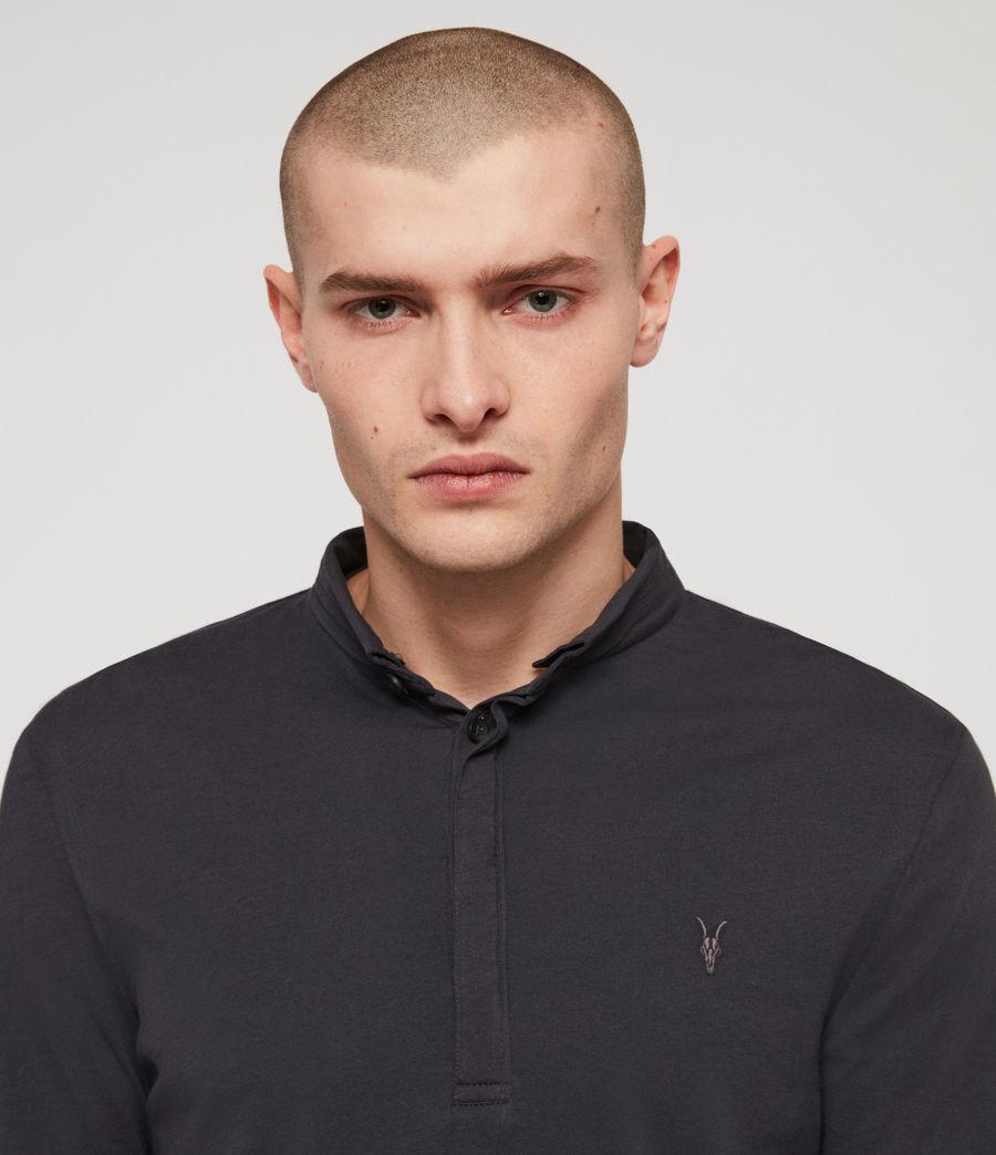 Men's Grail Polo Shirt (lead_navy) - Image 2