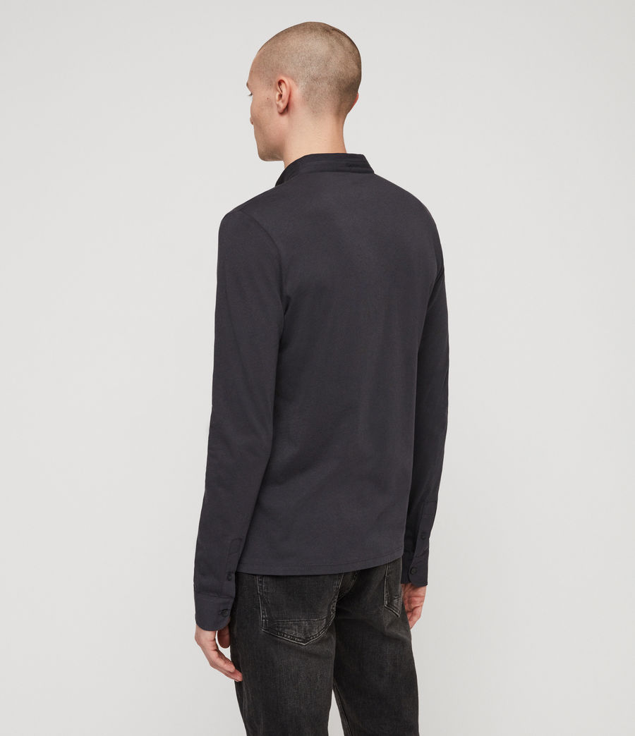 Men's Grail Polo Shirt (lead_navy) - Image 4