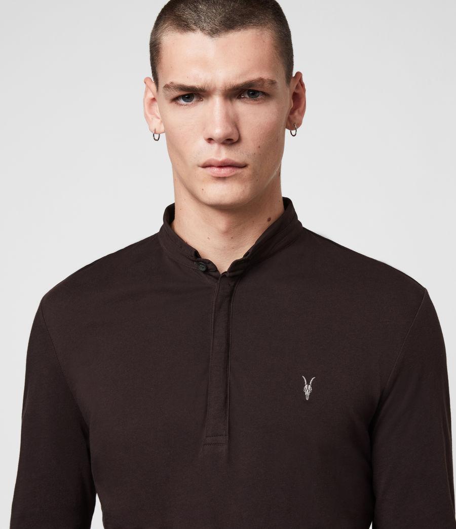Men's Grail Long Sleeve Polo Shirt (mahogony_red) - Image 2