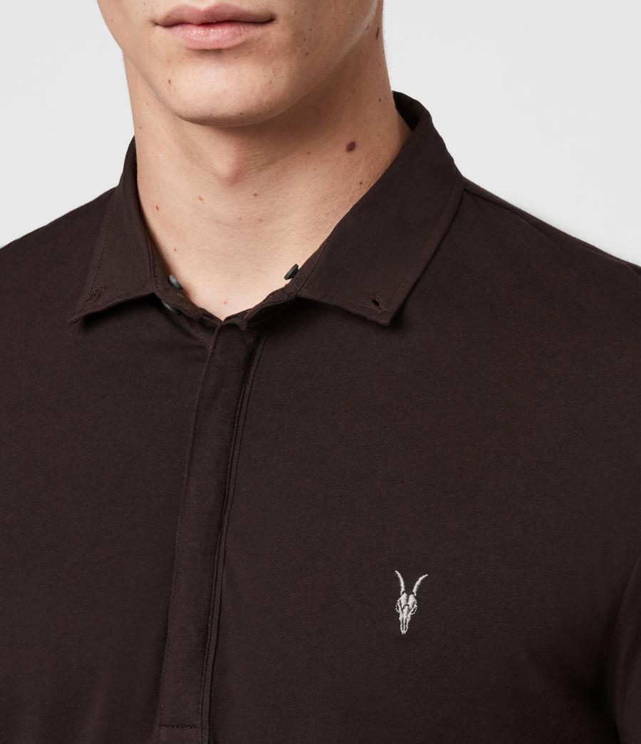 Men's Grail Long Sleeve Polo Shirt (mahogony_red) - Image 5