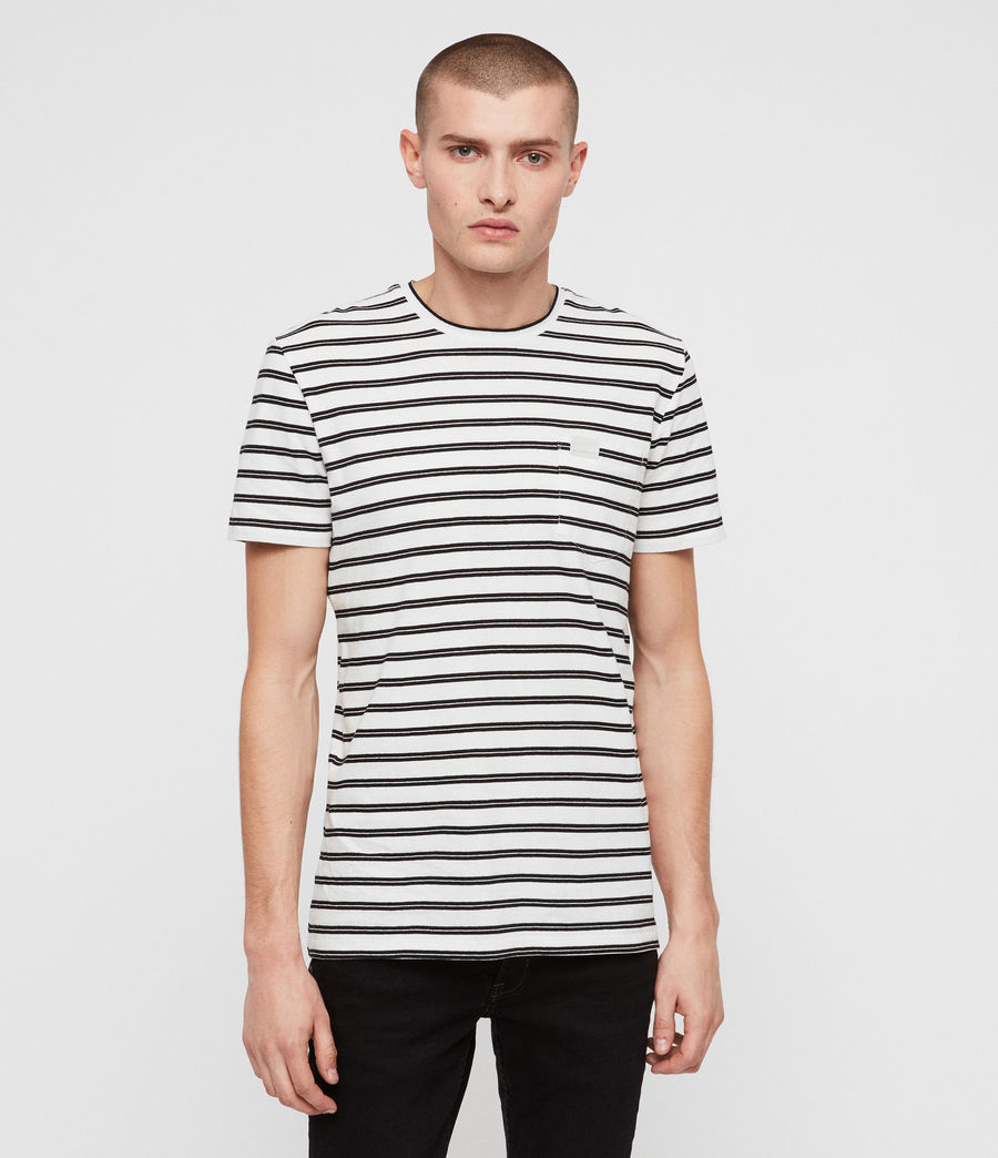 Men's Ange Crew T-shirt (chalk_white_black) - Image 1