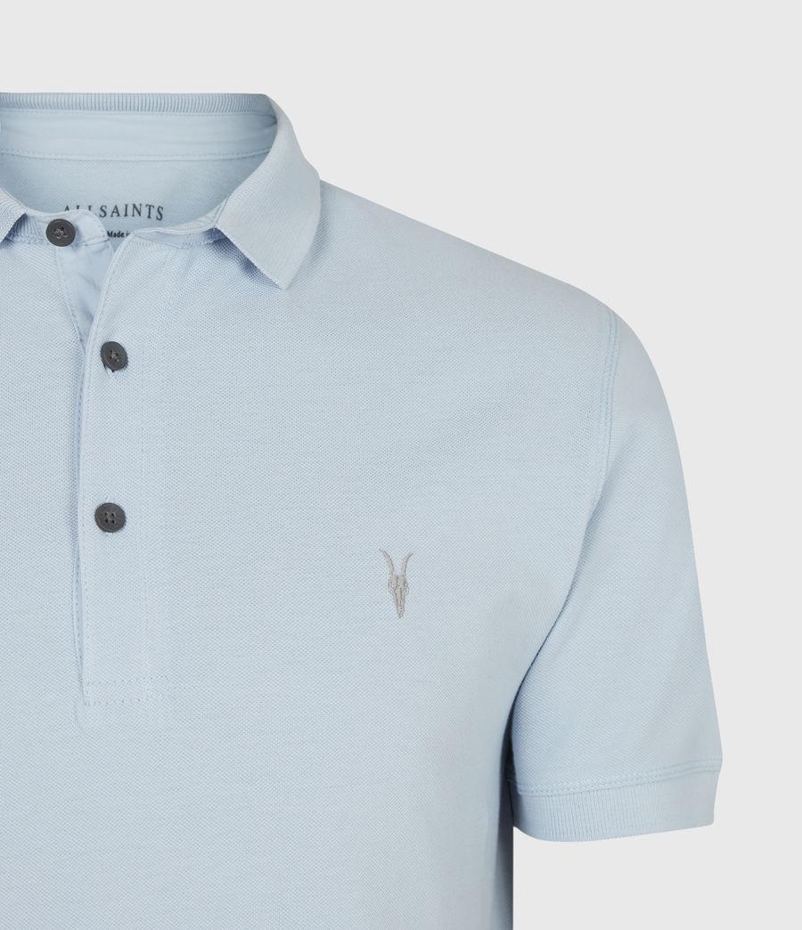 Herren Reform Short Sleeve Polo Shirt (pacific_blue) - Image 4