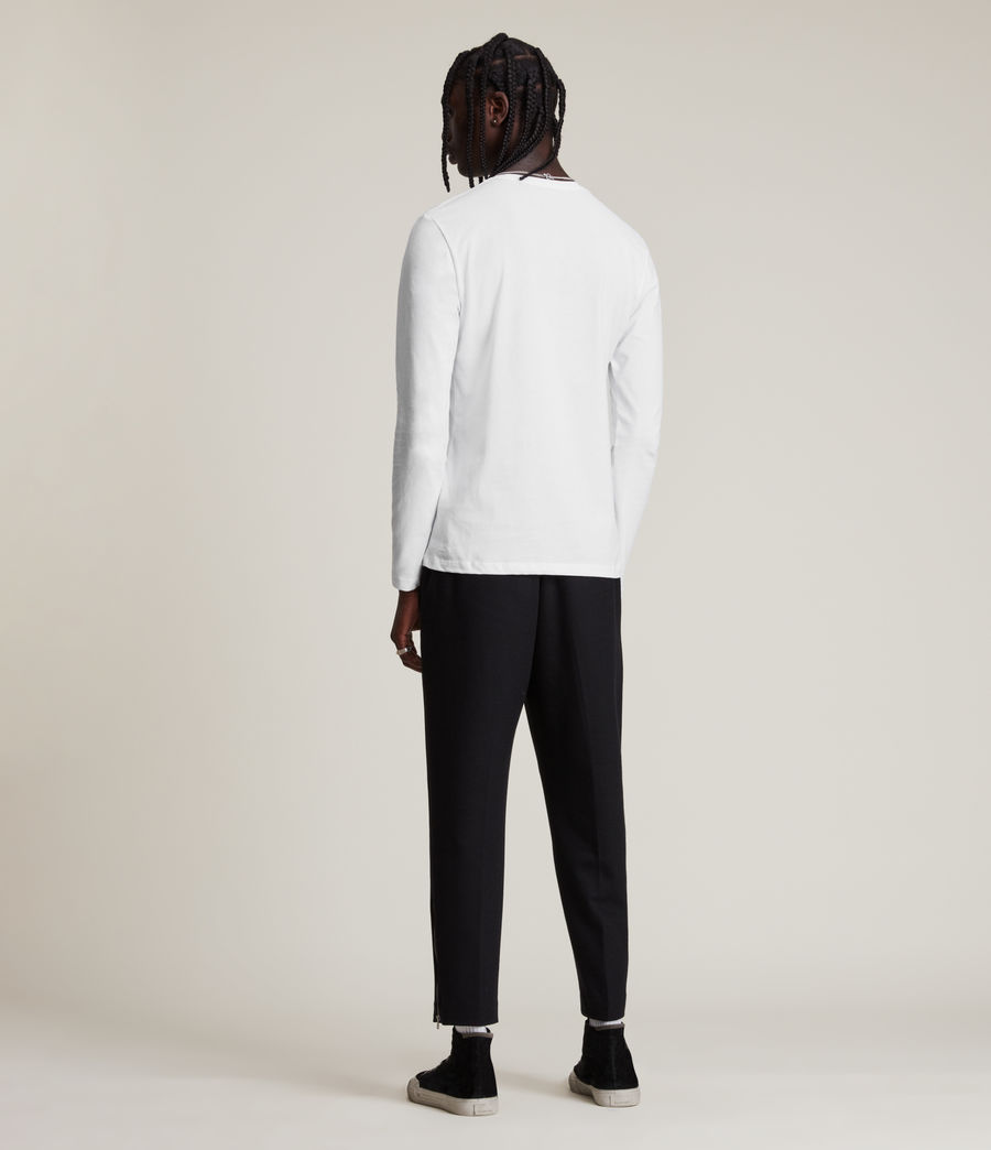 Hommes Brace Long Sleeve Tonic Crew T-Shirt (pebble_ecru_marl) - Image 4