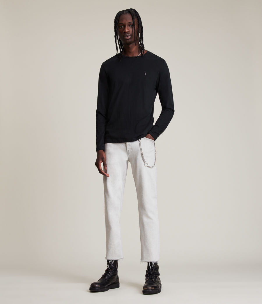 Mens Brace Tonic Long Sleeve Crew T-Shirt (jet_black) - Image 3