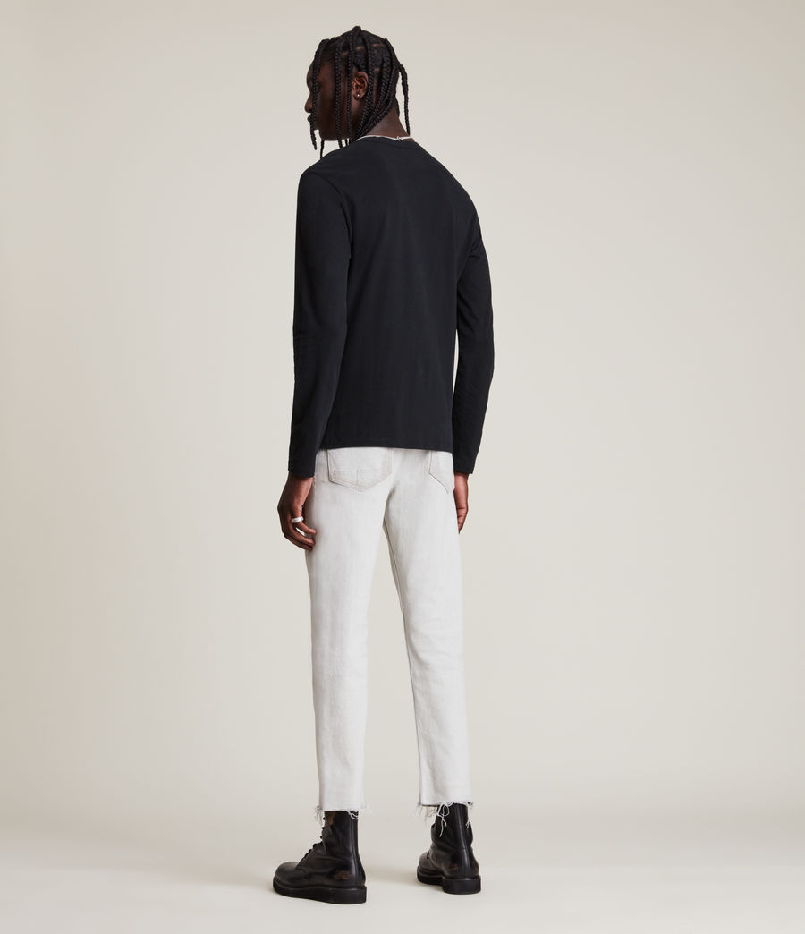 Mens Brace Tonic Long Sleeve Crew T-Shirt (jet_black) - Image 5