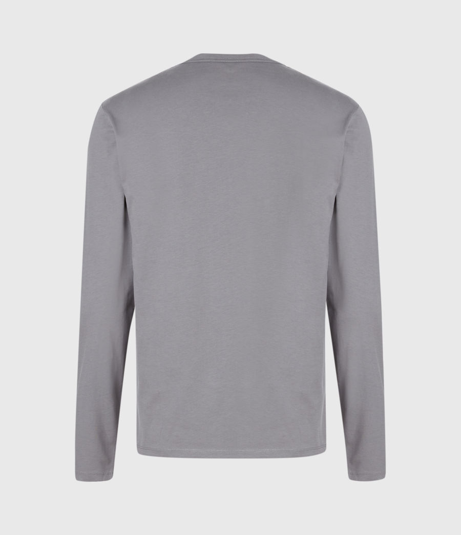Men's Brace Long Sleeve Tonic Crew T-Shirt (shadow_blue) - Image 3