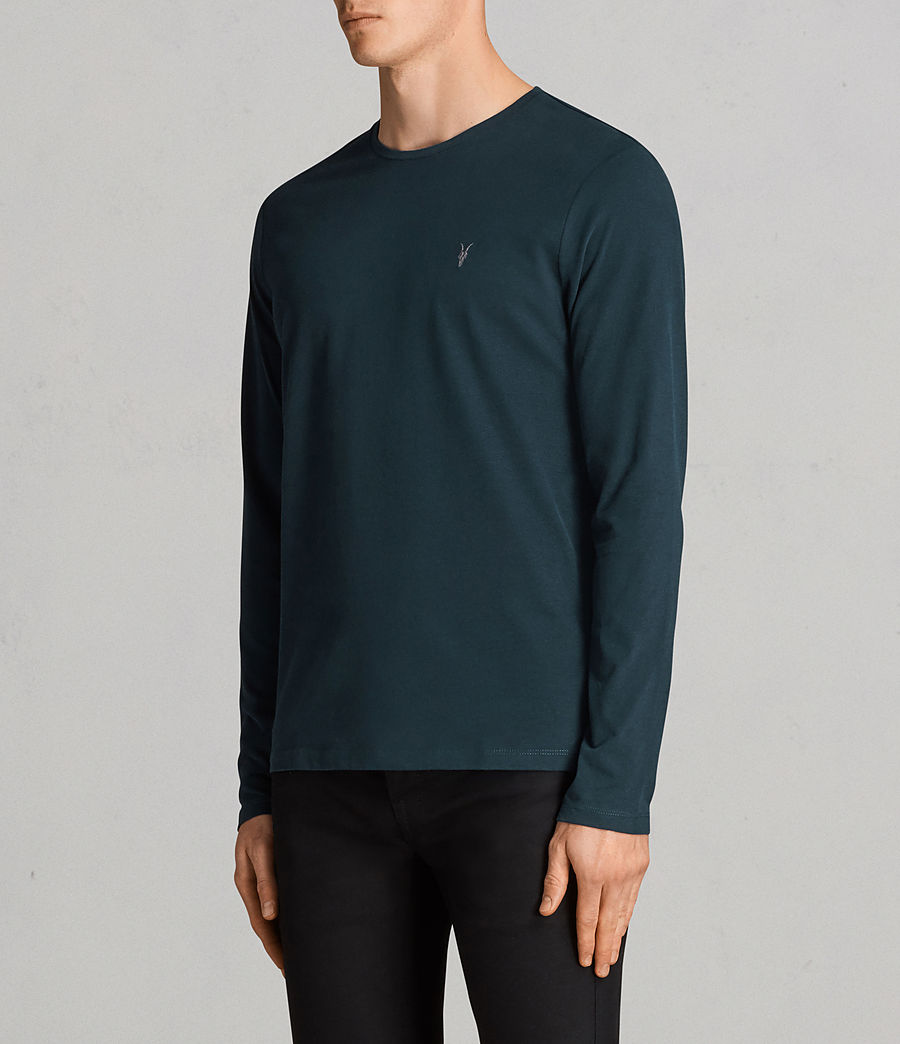 Mens Brace Long Sleeve Tonic Crew T-Shirt (oil_blue) - Image 3