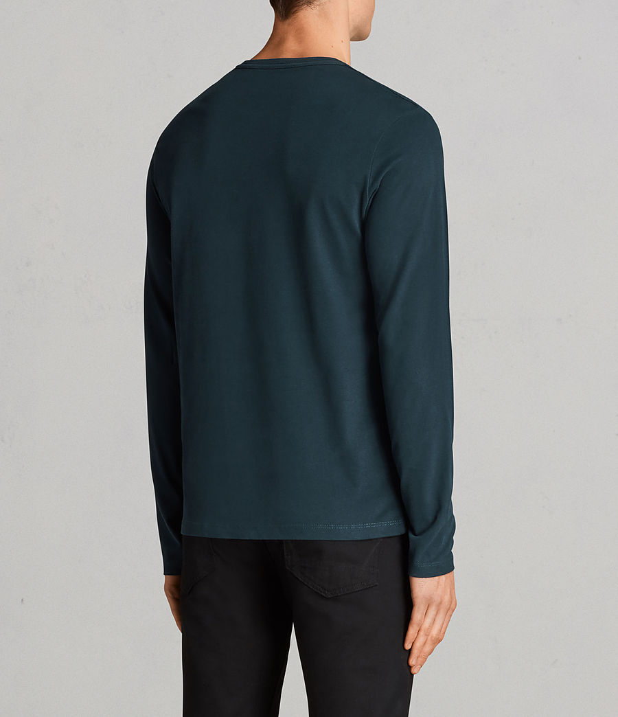 Mens Brace Long Sleeve Tonic Crew T-Shirt (oil_blue) - Image 4