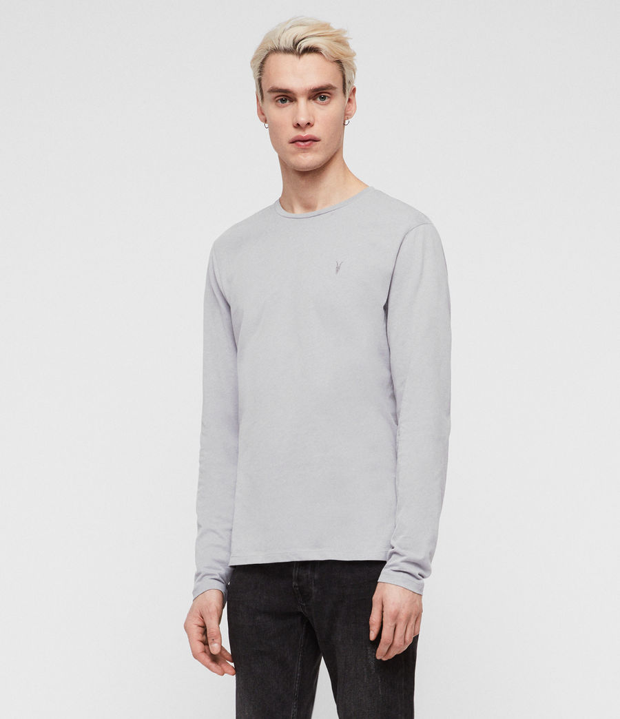 Men's Brace Tonic Long Sleeve Crew T-Shirt (space_blue) - Image 3