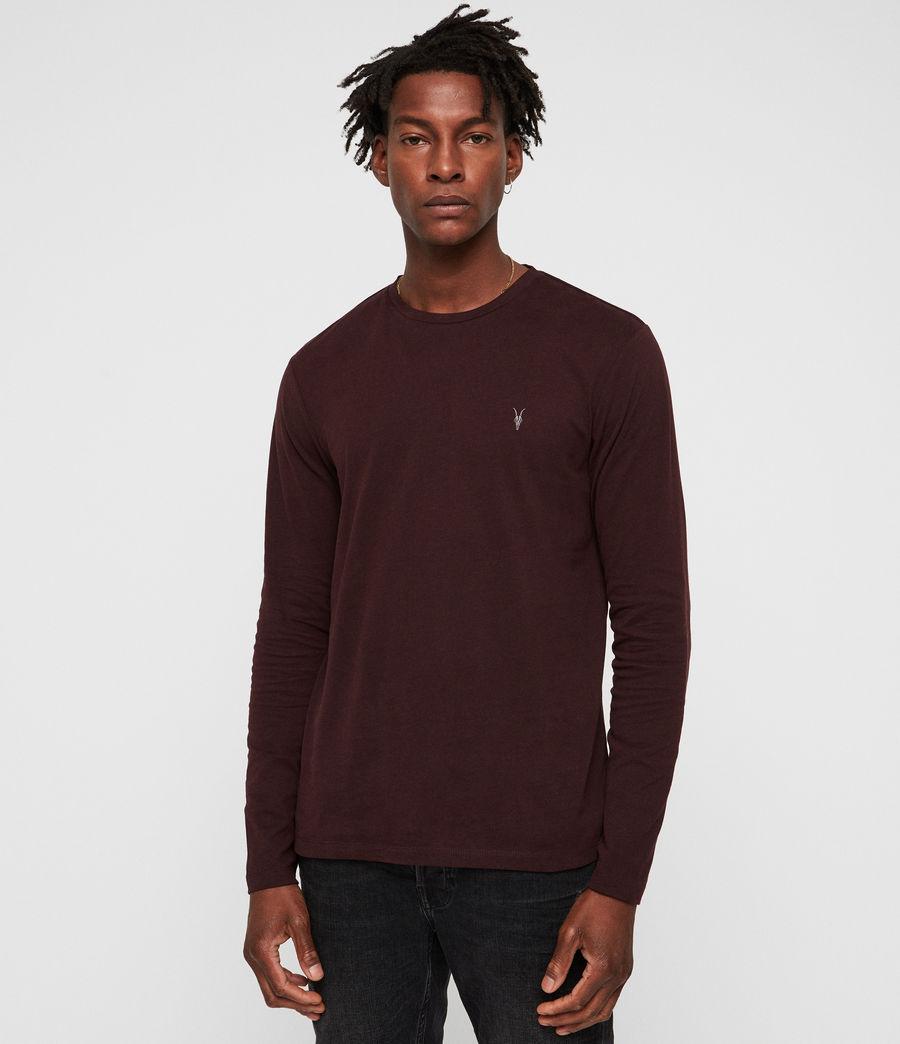 Herren Brace Tonic Langarm T-Shirt (deep_red) - Image 1