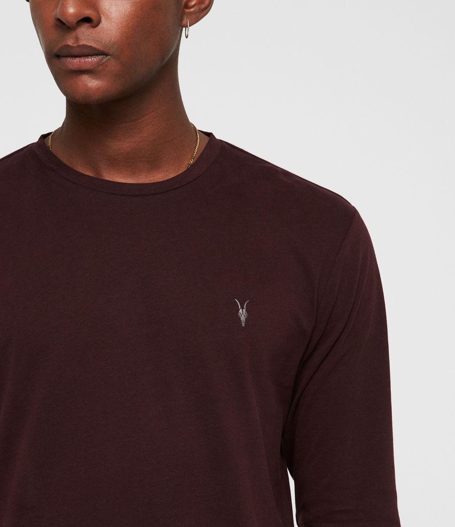 Herren Brace Tonic Langarm T-Shirt (deep_red) - Image 2