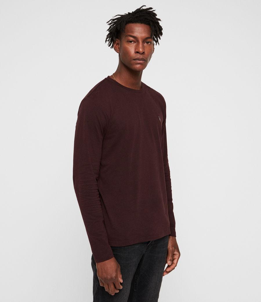 Herren Brace Tonic Langarm T-Shirt (deep_red) - Image 4