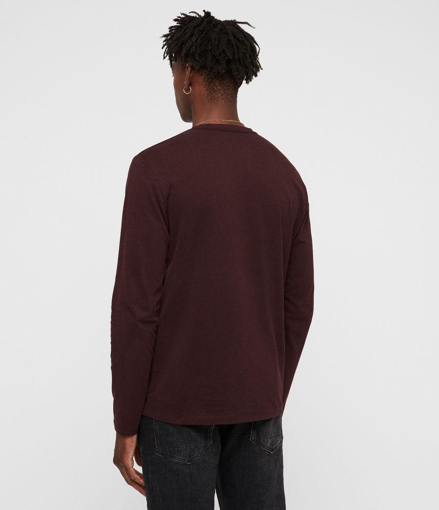 Herren Brace Tonic Langarm T-Shirt (deep_red) - Image 5