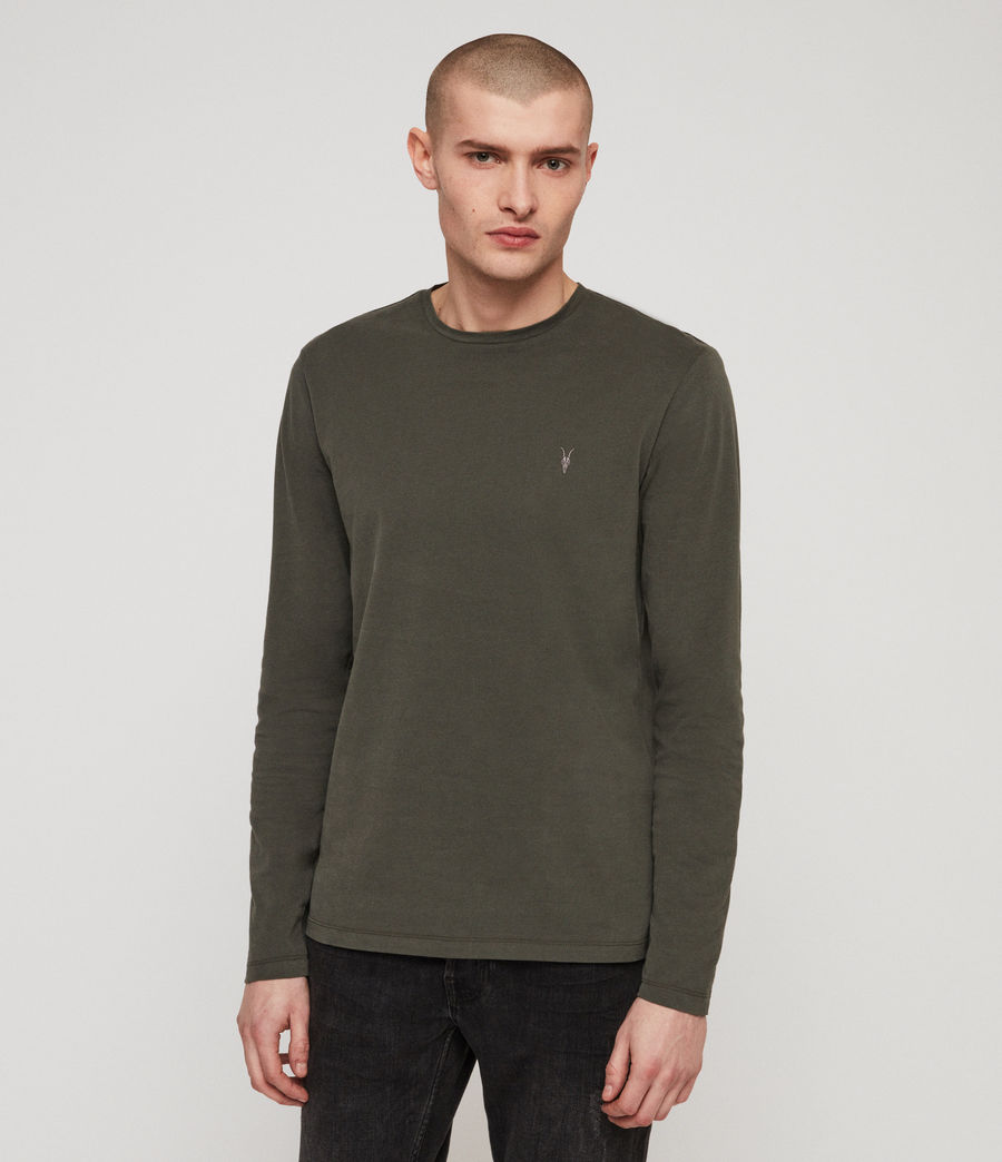 Men's Brace Tonic Crew T-Shirt (mine_green) - Image 1