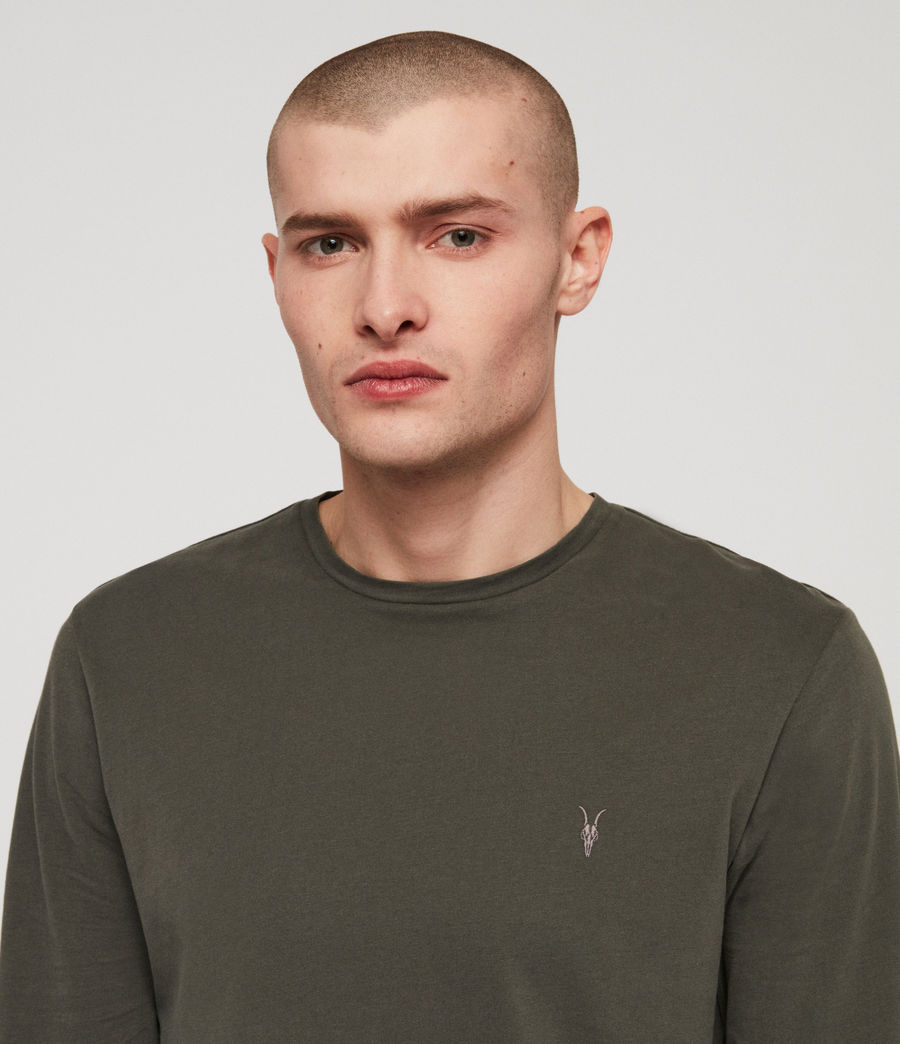 Mens Brace Tonic Crew T-Shirt (mine_green) - Image 2