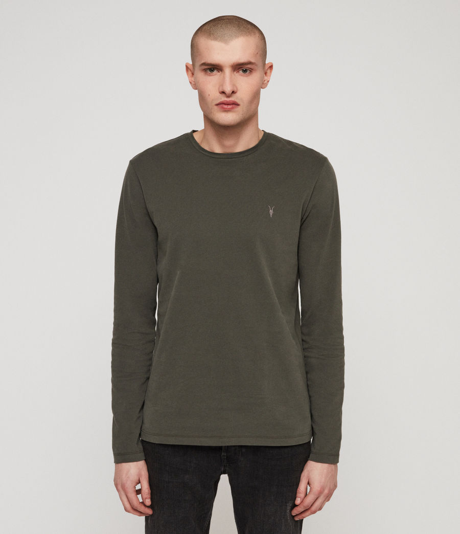 Men's Brace Tonic Crew T-Shirt (mine_green) - Image 4