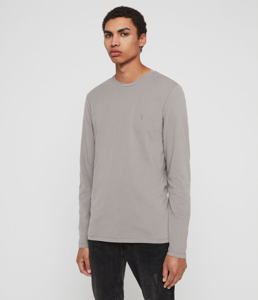 Mens Brace Tonic Long Sleeve Crew T-Shirt (charcoal_marl) - Image 2