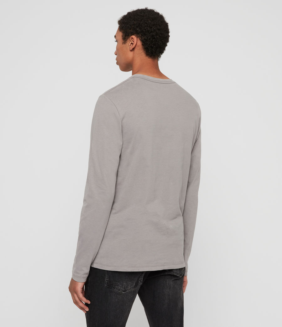 Mens Brace Tonic Long Sleeve Crew T-Shirt (charcoal_marl) - Image 4