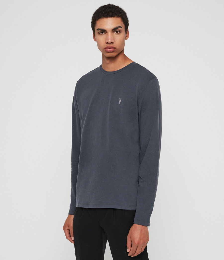 Herren Brace Long Sleeve Tonic Crew T-Shirt (pier_blue) - Image 3