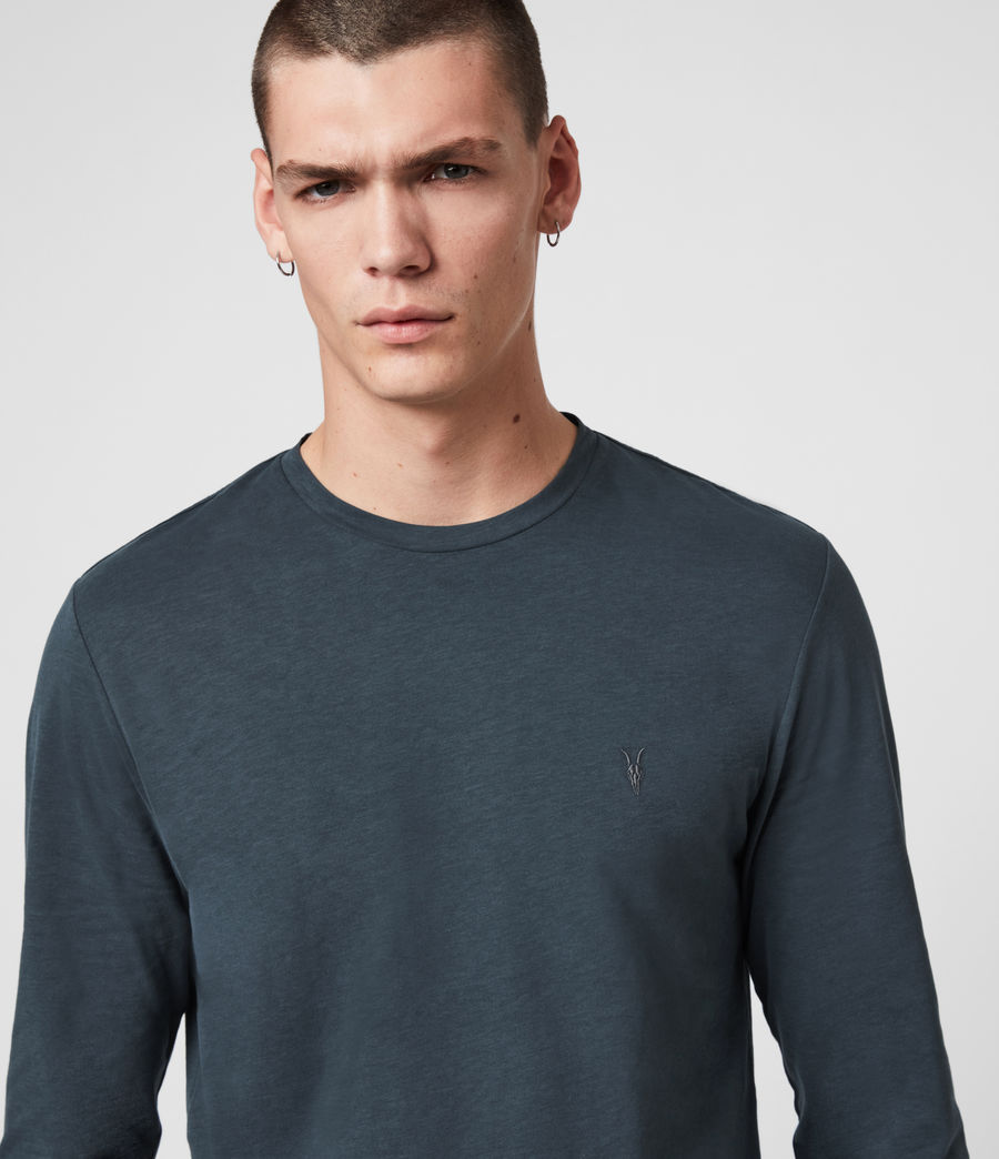 Hombres Camiseta de Manga Larga Brace Tonic (flint_grey) - Image 2