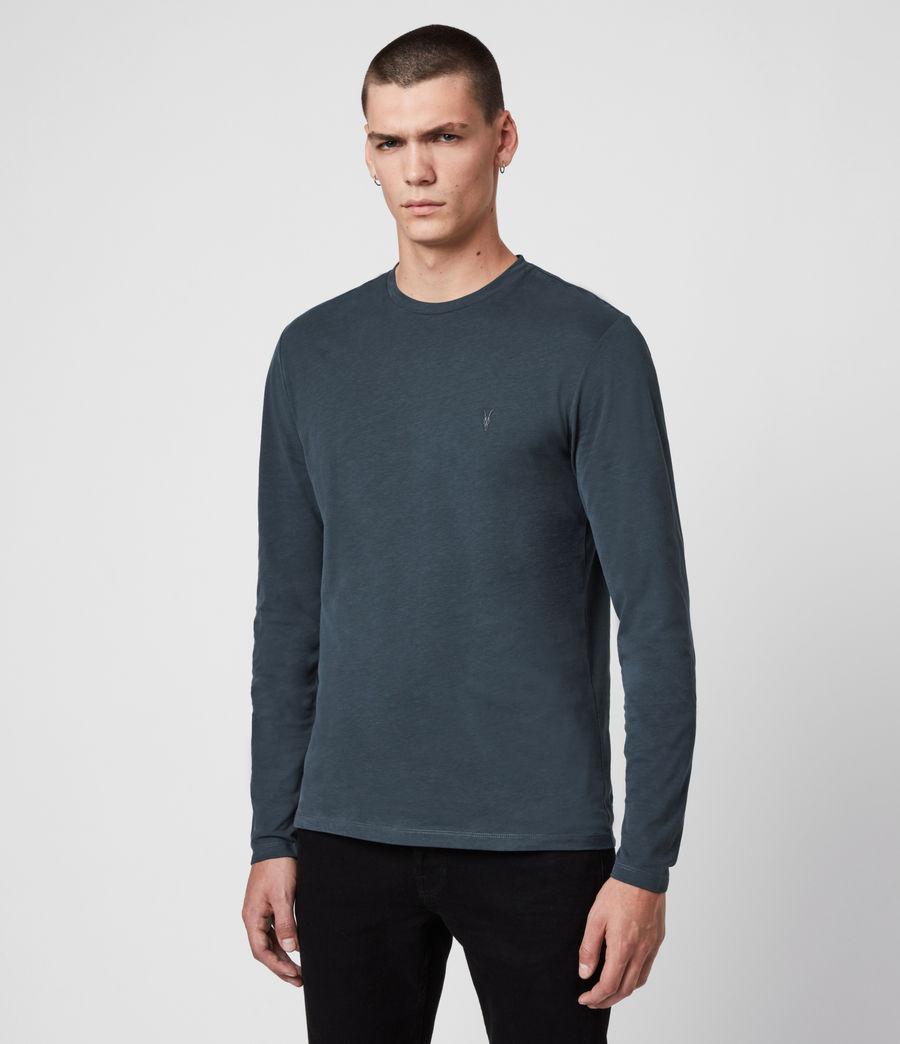 Mens Brace Tonic Crew T-Shirt (petroleum_navy) - Image 4